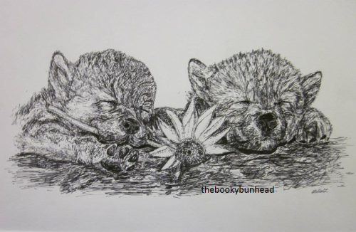 for blog- puppies ink sketch. 2011-12